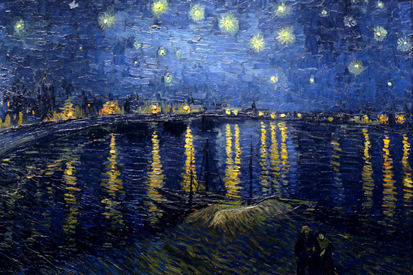 Van Gogh, Notte stellata sul Rodano